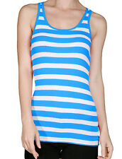 NE PEOPLE Women's Light Weight Casual Basic Striped Racerback Tank Top NEWT120