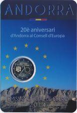 """Andorra 2 Euro Gedenkmünze 2014 """"20 Jahre Europarat"""" in Coincard"""
