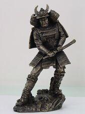 Japanese Samurai Bushido Armored Warrior Figurine Statue Sword Battle Stance
