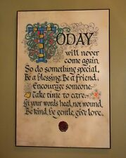 Contemporary Celtic Plaque: Do Something Special 12 x 18 Book of Kells Lettering