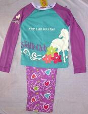 ~ Saddle Club - HORSE FLANNEL FLANNELETTE PYJAMA PJS SLEEPWARE KIDS Sz7