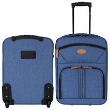 30L Trolley Handgepäck Bordgepäck Reisekoffer Gepäck Koffer Reise 2 Rollen Blau