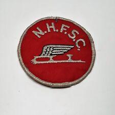 Vintage original N.H.F.S.C. Skating club member award souvenir patch