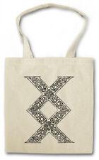 INGUZ RUNE SHOPPER SHOPPING BAG Runes Valhall Valhalla Norse Vikings Enguz