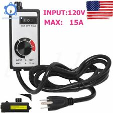 For Router Fan Variable Speed Controller Electric Motor Rheostat Ac 120v Us