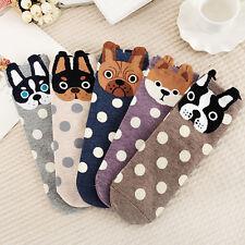 Damen 3D Hunde Tiere-Muster Socken Weich Socken Baumwollsocken Freizeitsocken ~~