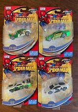 2011 NEW Maisto Marvel Universe SPIDER SENSE Spider-Man Diecast Car Lot of 4