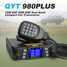 QYT 980PLUS 75W 136~174VHF/400~480UHF Mobile Transceiver Amateur Ham Radio+ Gift