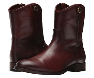 NEW IN BOX WOMENS FRYE MELISSA BUTTON 2 SHORT BOOTIES REDWOOD 7 & 7.5 $ 298