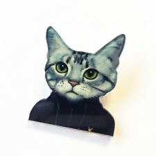 Quirky Casuals Dress-up Cat Plastic Acrylic Pin Badge Kawaii Japanese Brooch