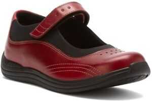 Drew Women's Rose Mary Jane Orthopedic Comfort Shoes, Red ( 6 M )