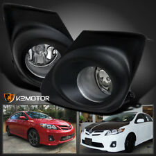 For 2011-2013 Toyota Corolla CE LE Clear Bumper Fog Lights Lamps+Switch+Wiring