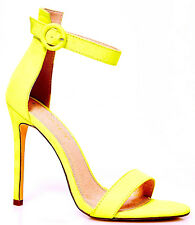 NEW NIB NEON YELLOW SUEDE STRAPPY SANDALS HEELS 5.5 35.5 FAB FOR EVERY SEASON!