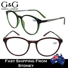 Women Ladies Reading Glasses Italy Design Red Green +1.0 to +3.5
