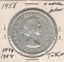 1958 Canada Silver Dollar Totem Pole