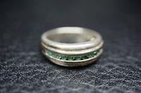 Ring mit Smaragden 925 Silber / a8