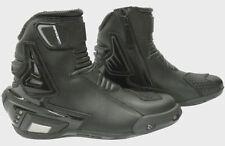 Bottes noirs pour motocyclette 100% cuir