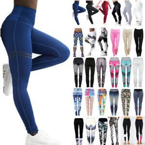 Women Fitness Yoga Leggings High Waist Pants Stretch Sports Jogger Long Trousers