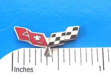 CORVETTE FLAGS  - Hat pin , lapel pin , tie tac . hatpin GIFT BOXED hard enamel