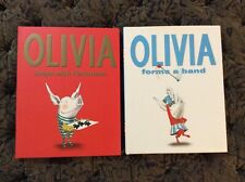Olivia The Pig Books New - Olivia Forms A Band & Olivia Helps With Christmas
