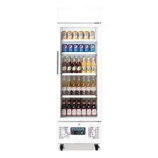 Refrigerated Upright Display Fridge Glass Door 218Lt Polar Restaurant Cafe DM075