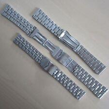 Artesanía local de acero inoxidable banda relojes pulsera con buzos-prórroga steg ancho 22mm