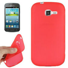 TPU Case Pure Colour in rot für Samsung S7572 Galaxy Trend II Duos Handyhülle