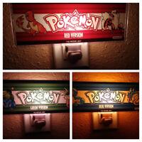 Custom Pokemon Blue Red & Green Arcade Marquee Night Light Set