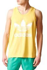 adidas Originals Mens Trefoil Logo Tank Top Retro Sleeveless Vest Singlet Tee