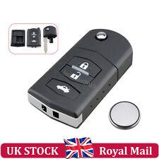3 BUTTON FOR MAZDA 2 3 5 6 RX8 MX5 REMOTE KEY FOB CASE REPAIR + CR1620 Battery