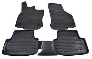 3D Tapis de sol caoutchouc à bords hauts pour SEAT LEON mk3 2013 -2020  NOIR