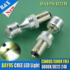 2x 30W AC 12-24V Error Free White Bay9s H21W 64136 CREE LED projector Light Bulb
