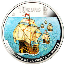 Spanien - 10 Euro 2019 - Elcano - Erste Weltumsegelung (1.) - 27 gr. Silber PP