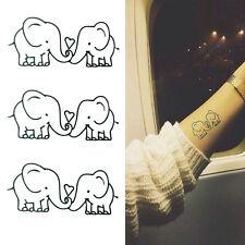 Elephant Tattoo Removable Waterproof Temporary Tattoos Body Art StickeHFQA