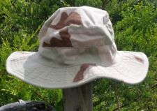 DESERT TRI COLOR CAMO BOONIE HAT SNIPER MILITARY NYCO 50/50 RIP-STOP MEDIUM