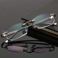 Mens Womens Reflective Square Clear Lens Glasses Metal Frame Fashion Eyewear
