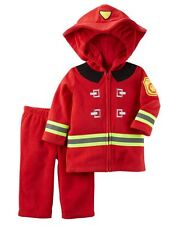 NEW Carter's Halloween Red Fire Man Plush Costume 3-6m NWT Top Jacket Pants Set