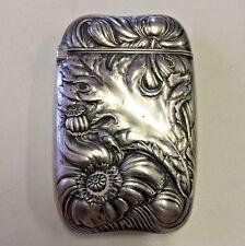 Antique Match Safe Vesta Art Nouveau Sterling Silver Wallace Aesthetic Movement