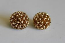 VINTAGE FLORENZA ROUND GOLD CLIP EARRINGS