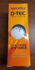 Maxfli Dtec Extra Distance 3 Balls Pinpoint Accuracy Brand New In Box Nib