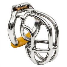 "S056 Handmade Stainless Steel Male Chastity Cage Device - Medium 2.00"" Ring"