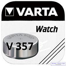 5x  VARTA V357 Uhrenbatterie Knopfzelle SR 44   SR44W  Primär  Silber Blister