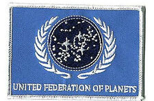 "Star Trek Blue UFP Flag  4"" Patch- Lincoln Enterprises- FREE S&H (STPAL-UFPB)"