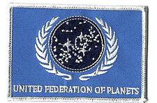 """Star Trek Blue UFP Flag  4"""" Patch- Lincoln Enterprises- FREE S&H (STPAL-UFPB)"""
