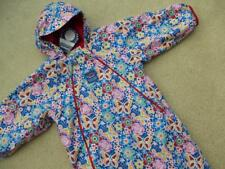 NEW JOJO MAMAN BEBE Waterproof Fleece Lined All In One 18-24m BUTTERFLY Snowsuit