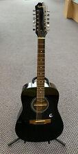 *Epiphone Pr-100 12 String Acoustic Guitar Black *Free Shipping*