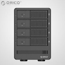 "ORICO Aluminum 4Bay USB 3.0 3.5"" Inch SATA3.0 Hard Drive HDD Enclosure Array Box"