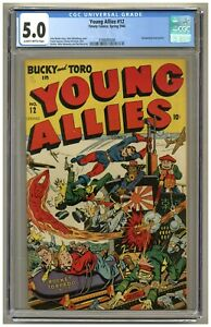 Young Allies 12 (CGC 5.0) Slightly brittle pgs; Decapitated head panels (j#4844)