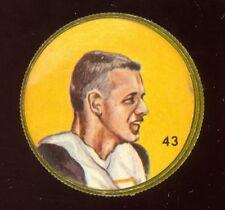 1963 CFL NALLEY'S FOOTBALL COIN #43 JOE ZUGER  EX-NM Hamilton Tiger Cats