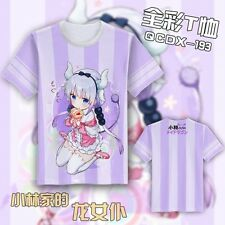 Kobayashi-san Chi no Maid Dragon Cute Kanna Kamui Cosplay T-shirt Short Sleeve